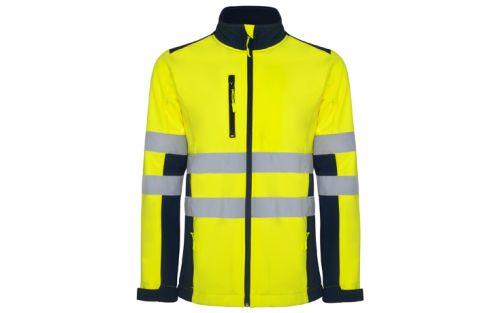Softshell reflectorizant navy blue/fluor yellow Roly Antares L