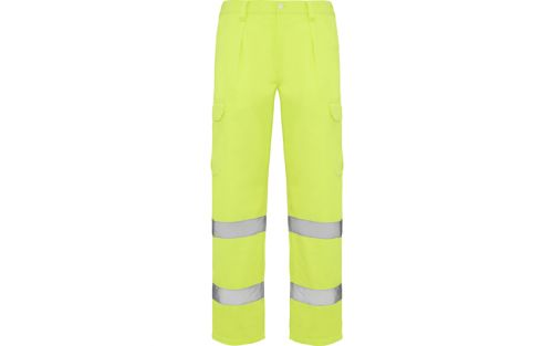 Pantaloni reflectorizanti galben fluorescent Roly Alfa 48